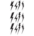 set icons different lightning vector image vector image