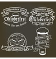set of oktoberfest labels design elements vector image vector image