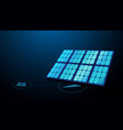 solar panel with ecology technology concept vector image