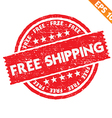 Stamp sticker free shipping collection - - vector image vector image