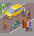 street petrol station composition vector image vector image