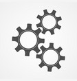 teamwork concept black contour gear and cog vector image vector image