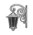 vintage wall lantern sketch vector image
