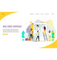 we are hiring landing page website template vector image vector image
