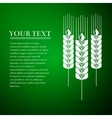 Wheat ear flat icon on green background vector image vector image