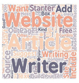 Why You Should Start An Article Website text vector image vector image