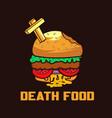 zombie burger food vector image vector image