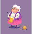 Funny old woman character Isolated vector image