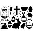 Easter set vector image