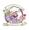 Happy baker vector image