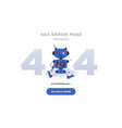 404 error page not found design with broken robot vector image vector image