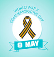 8 may World war II commemorative day vector image