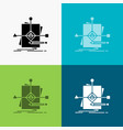 algorithm business foretelling pattern plan icon vector image vector image
