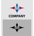 Alphabet icon M logo vector image
