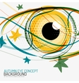 Autumn and human eye concept vector image vector image