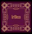 background art deco frames style vector image vector image