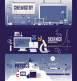 banner horizontal flat courses in physics vector image