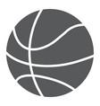 basketball ball glyph icon game and sport vector image vector image