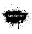 blot with halftone dots vector image