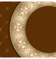 brown background with ornament on gold gradient vector image vector image