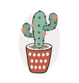 Cactus with flowers vector image vector image