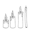 candle sketch vector image