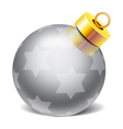 christmass glass toys vector image