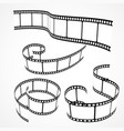 collection of 3d film strips vector image vector image