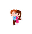 couple in love man and woman hugging each other vector image