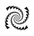 design monochrome spiral movement element vector image vector image