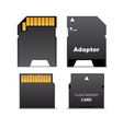 digital flash memory mini card vector image vector image