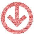 direction down fabric textured icon vector image vector image