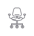 ergonomic chair line icon concept ergonomic chair vector image vector image