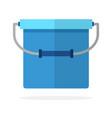 fishing bucket flat isolated vector image vector image