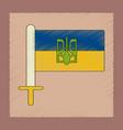 flat shading style icon ukrainian flag vector image vector image
