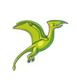 flying dinosaur cartoon color character vector image