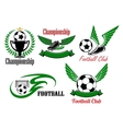 Football and soccer game icons vector image vector image