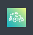 forest harvester icon timber harvesting machine vector image