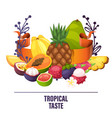 fruits pattern fruity apple banana and vector image