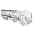 gasoline tanker oil trailer truck on highway vector image vector image