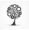 Gear Icon Tree Sign vector image