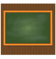 green board on brown wooden background vector image