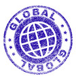 grunge textured global stamp seal vector image vector image