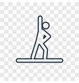 gymnast concept linear icon isolated on vector image vector image