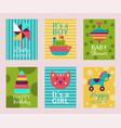 happy birthday invitation card t-shirt print baby vector image