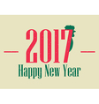 Happy new year 2017 Card with rooster vector image vector image