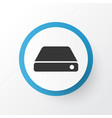 hard drive icon symbol premium quality isolated vector image