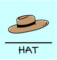 hat hand-drawn style vector image