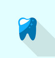healthy tooth logo icon flat style vector image vector image