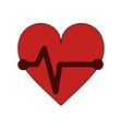 heartbeat cardio symbol vector image